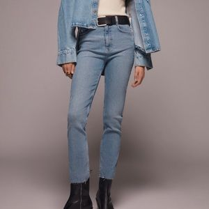 Zara vintage high rise slim jeans